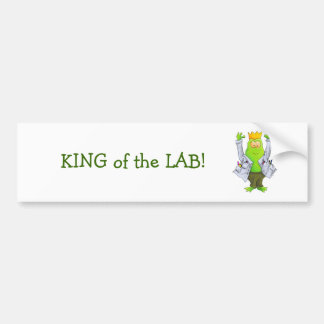 King of the Lab Car Bumper Sticker