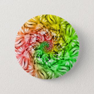 King of the Lion Pride Mandala Circle Rastafarian 2 Inch Round Button