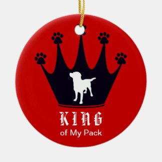 King of the Pack Ceramic Ornament