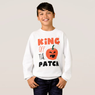 King of the patch Halloween pumpkin Creepy boy Sweatshirt