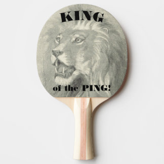 King of the Ping Lion Paddle Ping Pong Paddle
