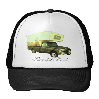 King of the Road - Vintage Truck Camper Trucker Hat