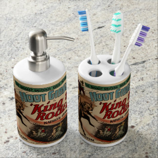 King Of The Rodeo Western Bronc Rider Bathroom Set