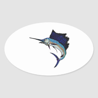 King of the Sea Oval Sticker