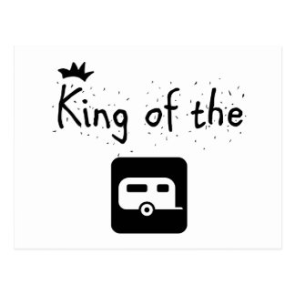 King of the Trailer Park Funny Logo Design Postcard