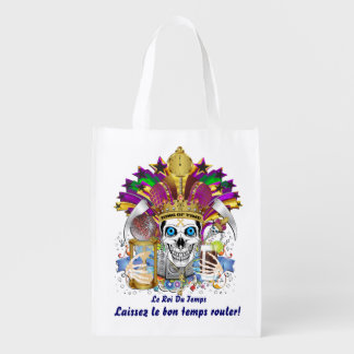 King of Time Mardi Gras Carnival View about Design Reusable Grocery Bag