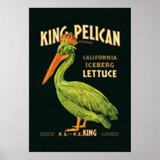 King Pelican Iceberg Lettuce Poster