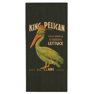 King Pelican Iceberg Lettuce Wood USB 2.0 Flash Drive