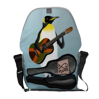 King Penguin Busking Courier Bags