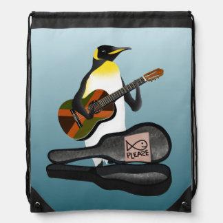 King Penguin Busking Drawstring Bag