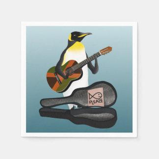 King Penguin Busking Paper Napkins