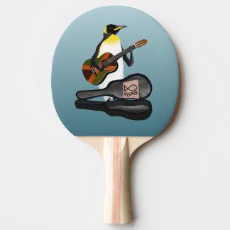 King Penguin Busking Ping Pong Paddle