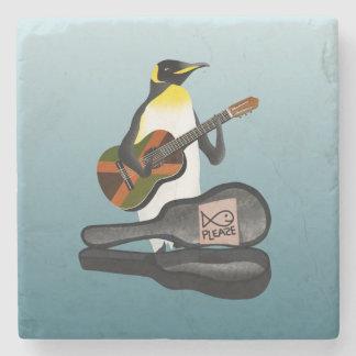 King Penguin Busking Stone Coaster