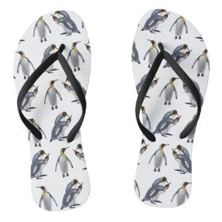King Penguin Frenzy Flip Flops (choose colour)