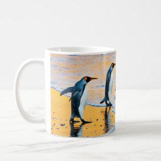King Penguins at Sunrise mug