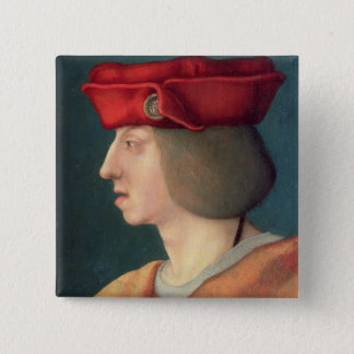 King Philip I `The Handsome' of Spain 2 Inch Square Button
