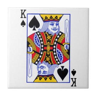 King Playing Card Ceramic Tiles