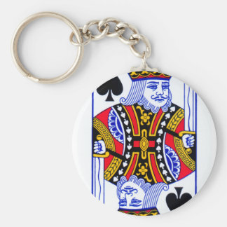 King Playing Card Keychain