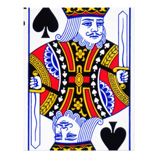 King Playing Card Letterhead Template
