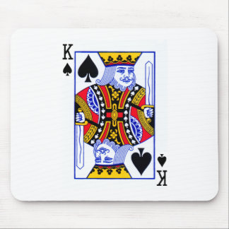 King Playing Card Mouse Pad