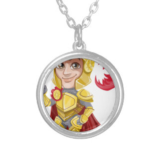 King Prince Armor Silver Plated Necklace