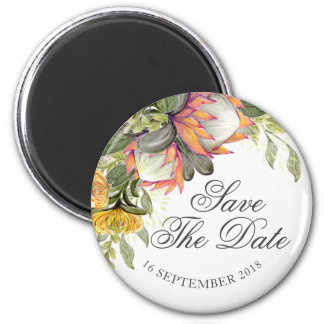 King Protea Bouquet Wedding Save the date magnet