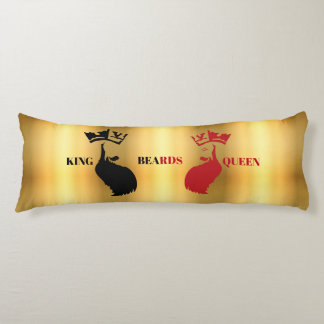 King&Queen Beards on Gold Body Pillow
