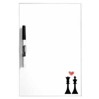 King & Queen Chess Love Dry-Erase Board