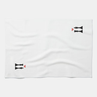 King & Queen Chess Love Kitchen Towel