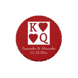 King Queen Hearts Custom Vegas Wedding Favor