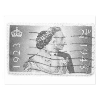 King & Queen of England Postcard