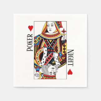 King & Queen of Hearts Las Vegas Wedding Paper Napkins