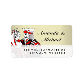 King & Queen Playing Cards Wedding Address Labels