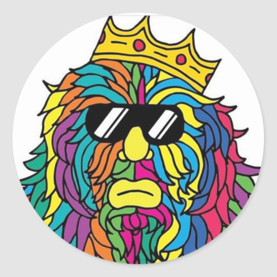 King Rad Classic Round Sticker