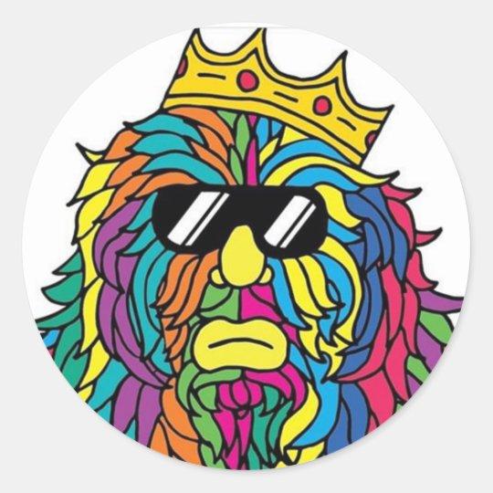 King Rad Classic Round Sticker