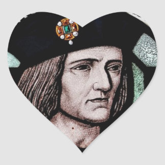 KING RICHARD lll SOUVENIR Heart Sticker