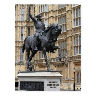 King Richard the Lionheart -Parliament -Postcard Postcard
