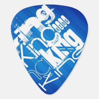 King; Royal Blue Stripes Pick