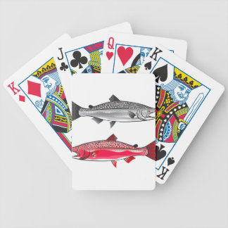 King Salmon. Silver and Spawning. Bicycle Playing Cards