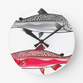King Salmon. Silver and Spawning. Clock
