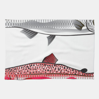 King Salmon. Silver and Spawning. Towel