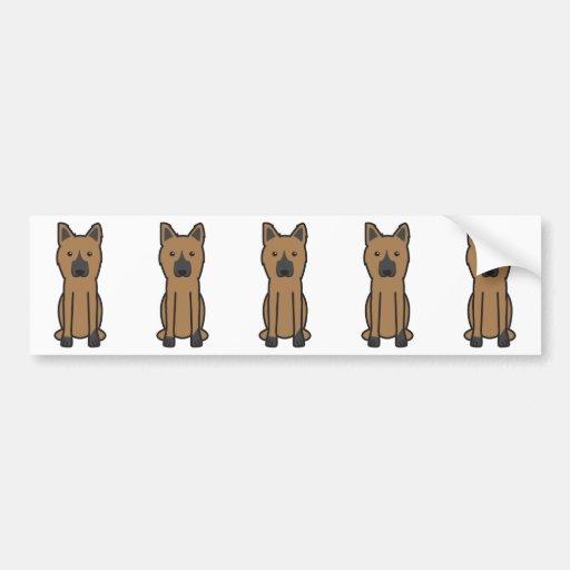 King Shepherd Dog Cartoon Bumper Sticker
