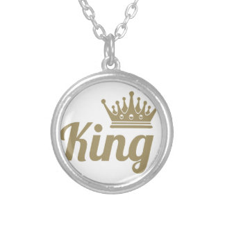 King Silver Plated Necklace