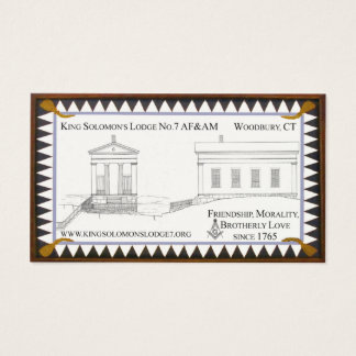King Solomon's Lodge No.7 Business Cards