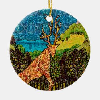 King Stag Ceramic Ornament