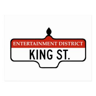 King Street, Toronto Street Sign Postcard