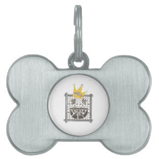 King Sudoku Bone Pet Tag