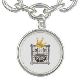 King Sudoku Charm Bracelet