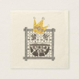King Sudoku Ecru Napkins Paper Napkins