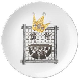 King Sudoku Porcelain Plate